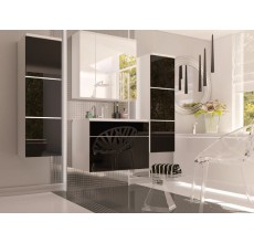 Zestaw mebli łazienkowych Porto kolor czrny połysk