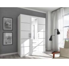 Szafa garderoba Bali D3 biała z lustrem 147