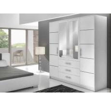 Szafa garderoba Bali D4 biała z lustrem 196