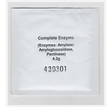 Komplet enzymów amylaza , pektolasa , amyloglukozydaza